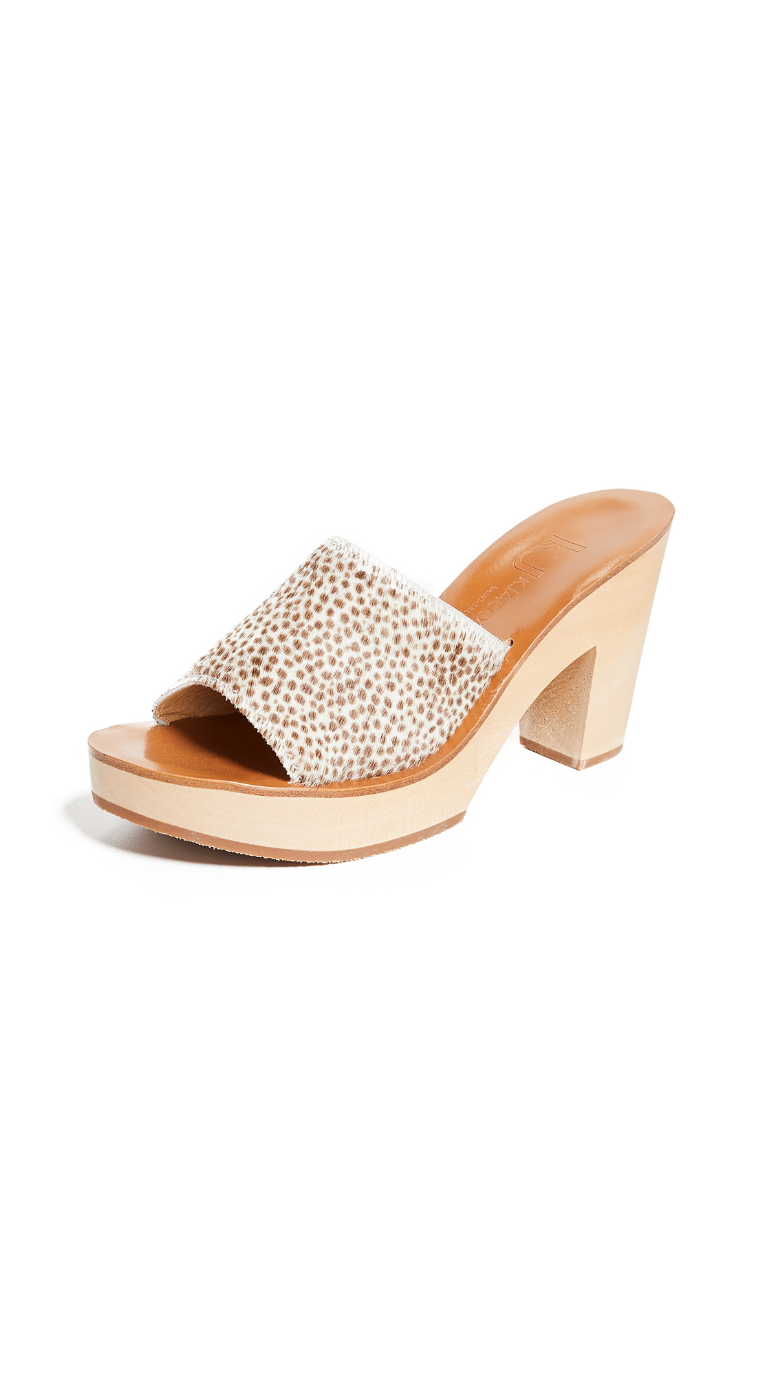K. Jacques Fiscus Heeled Mules - Horsy Merau