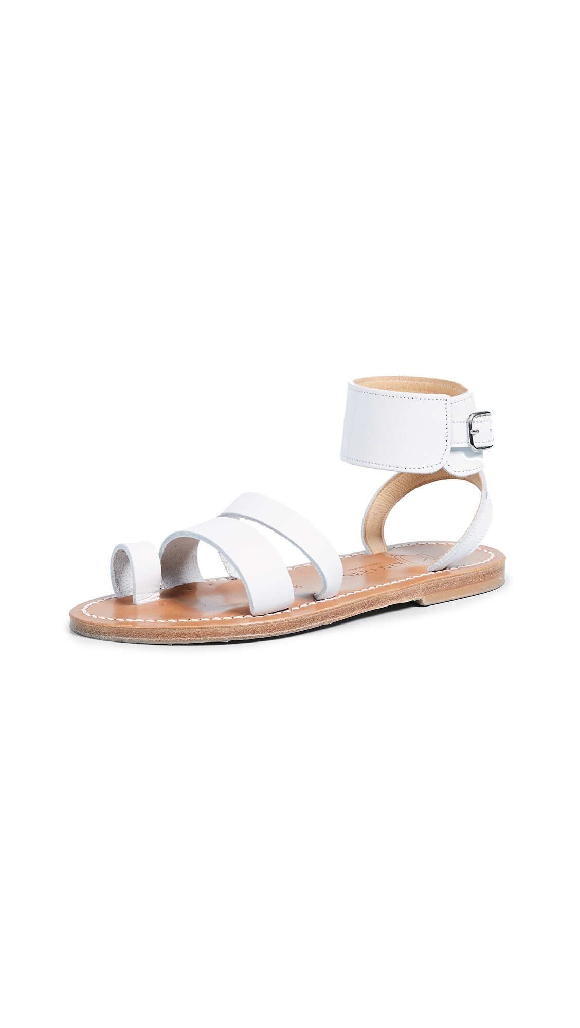 K. Jacques Ares Toe Ring Slides - Pul Blanc