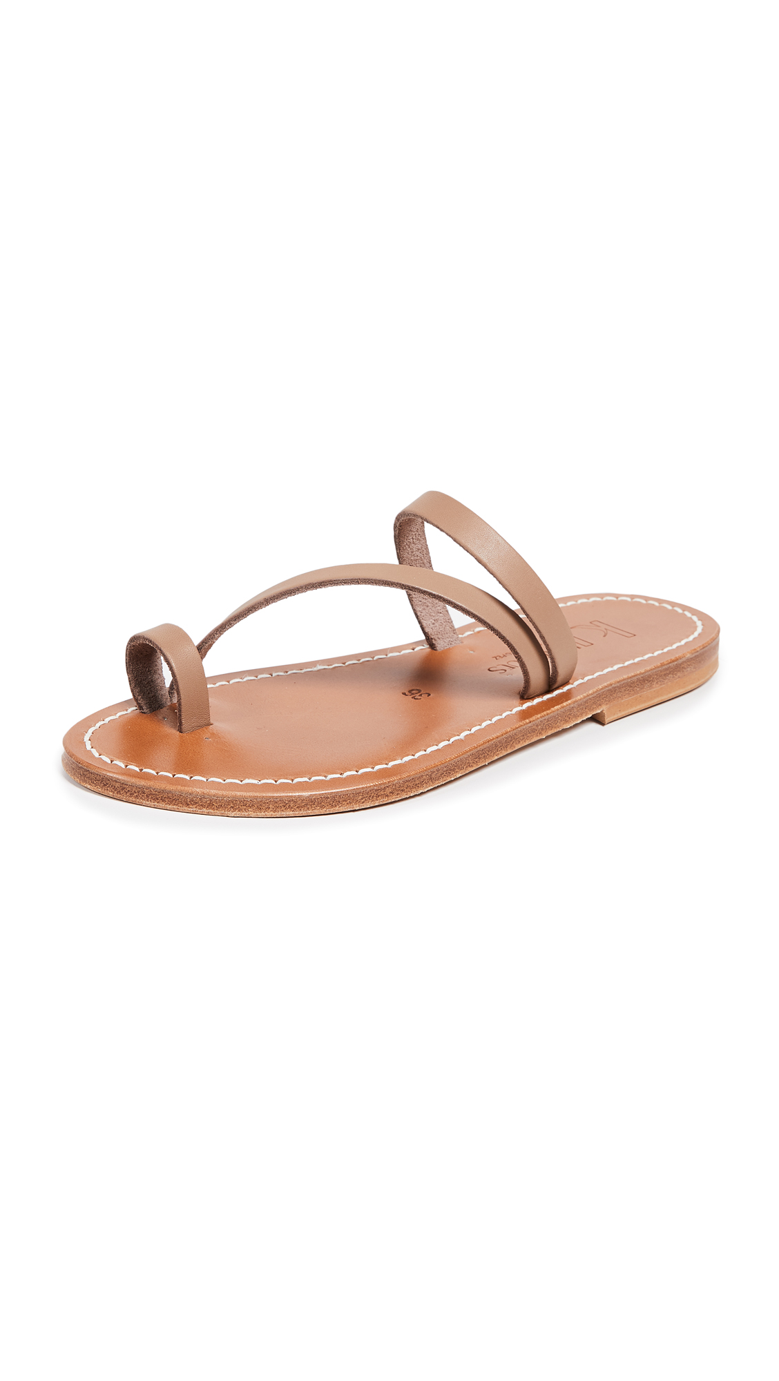 K. Jacques Actium Toe Ring Sandals - Pul Taupe