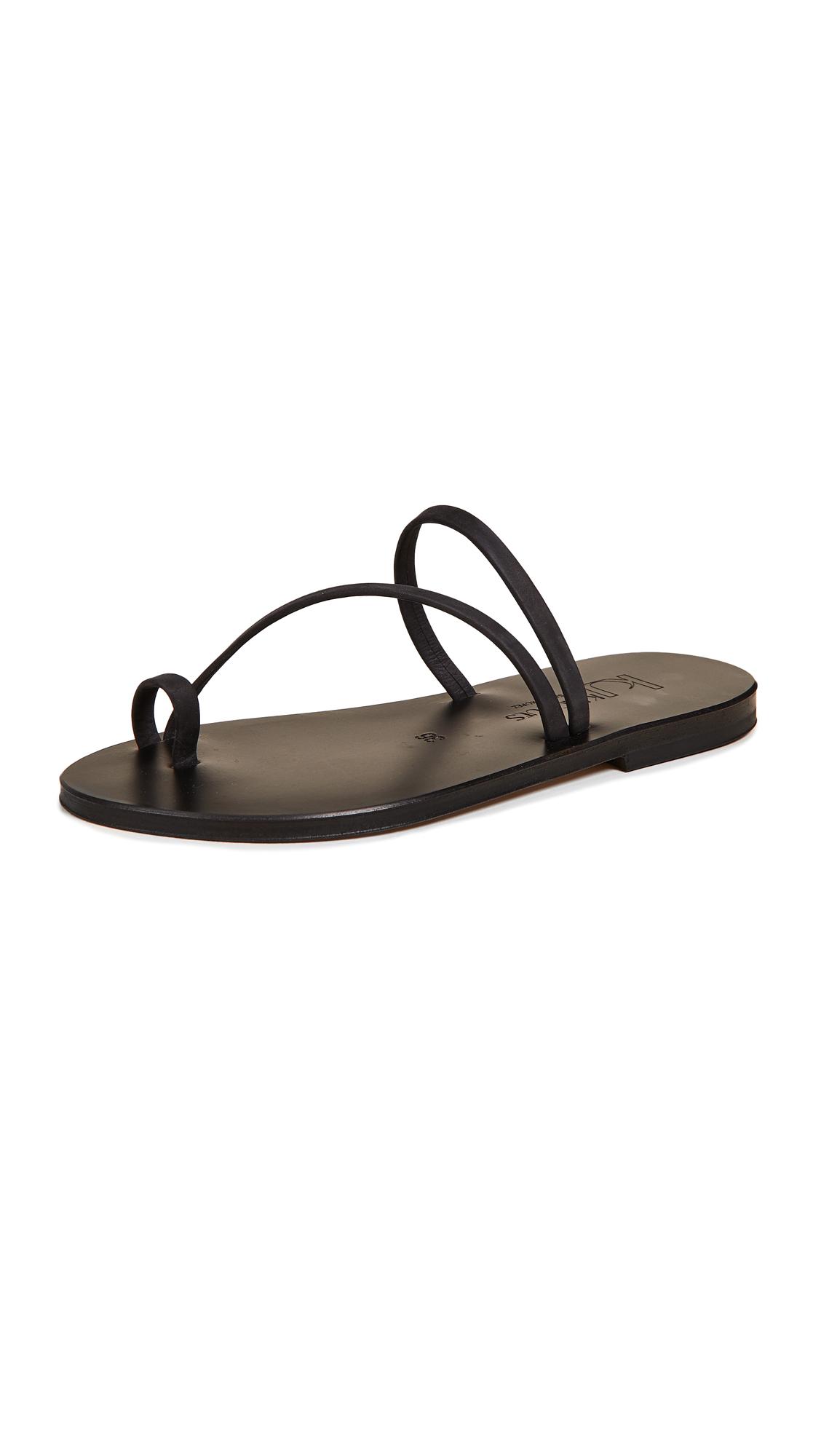 K. Jacques Bolzano Toe Ring Sandals - Nubuck Noir