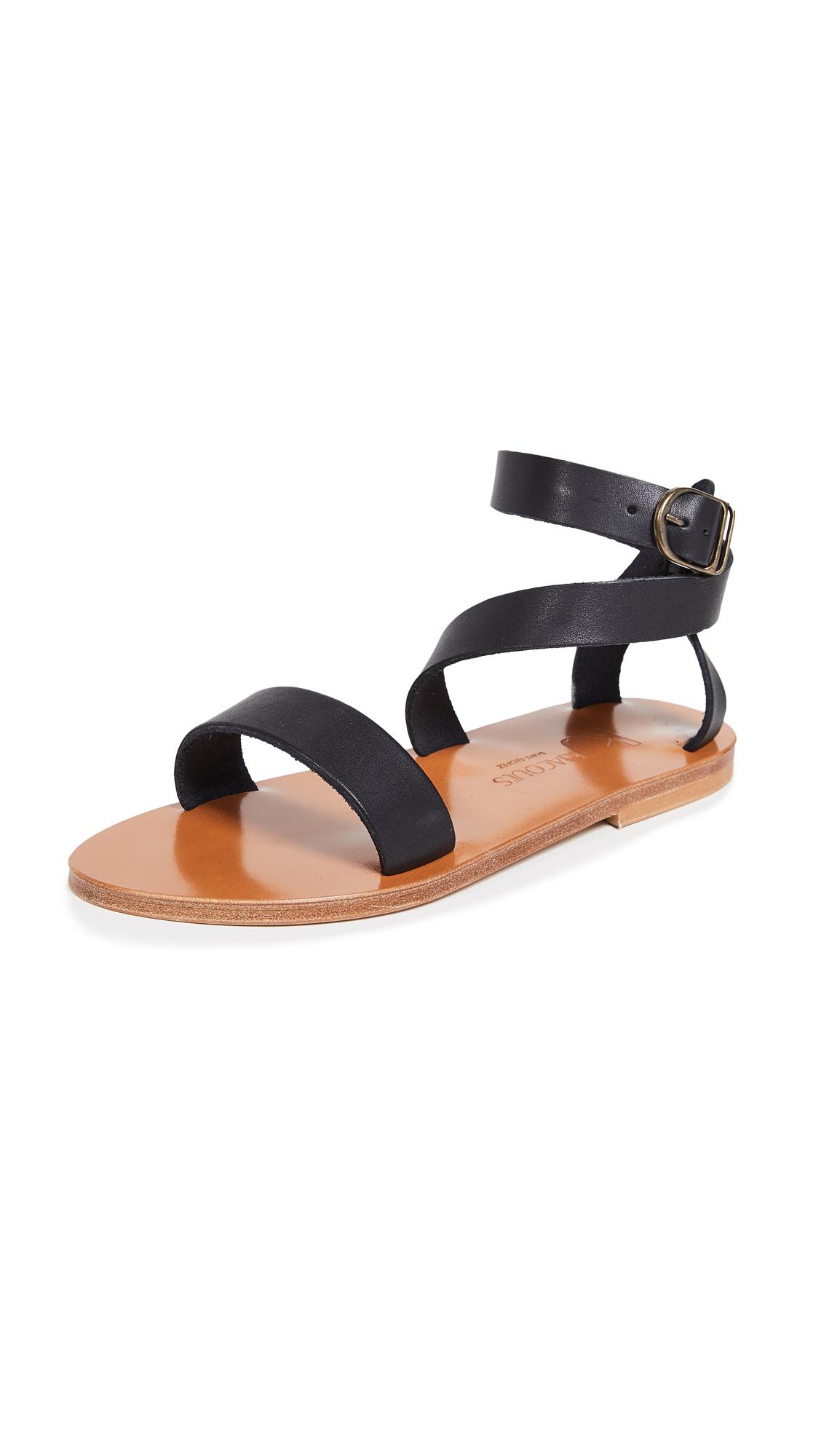 K. Jacques Cagliari Sandals - Pul Noir
