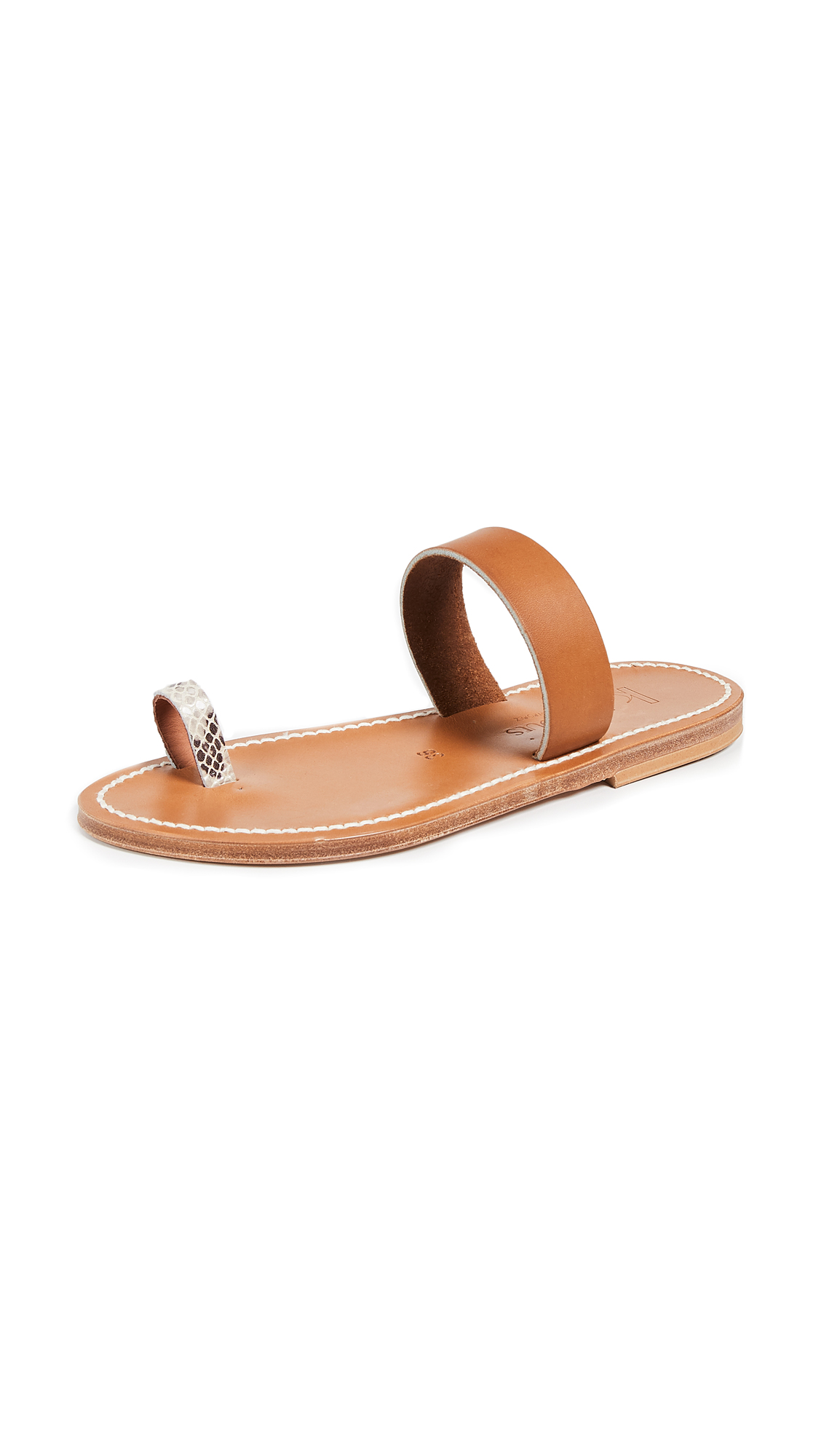 K. Jacques Kali Toe Ring Slides - Kampal Duna/Pul Natural