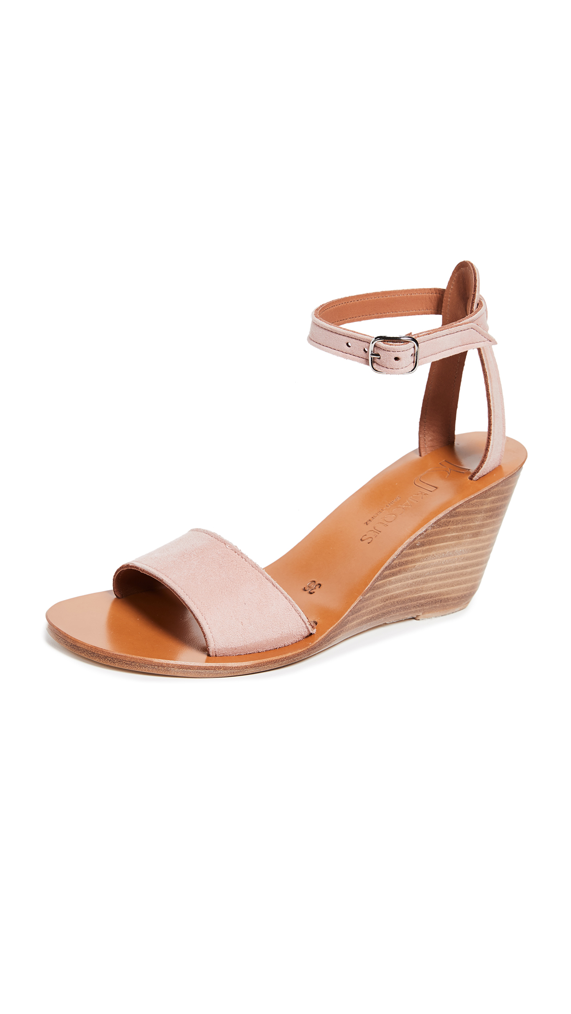 K. Jacques Sardaigne Wedge Sandals - Velours Factor