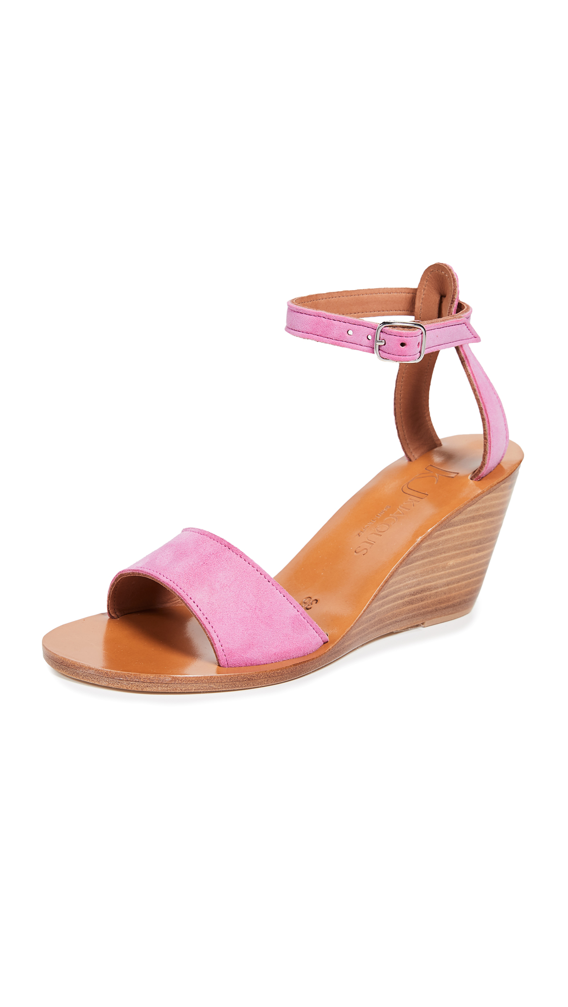 K. Jacques Sardaigne Wedge Sandals - Velours Bogor