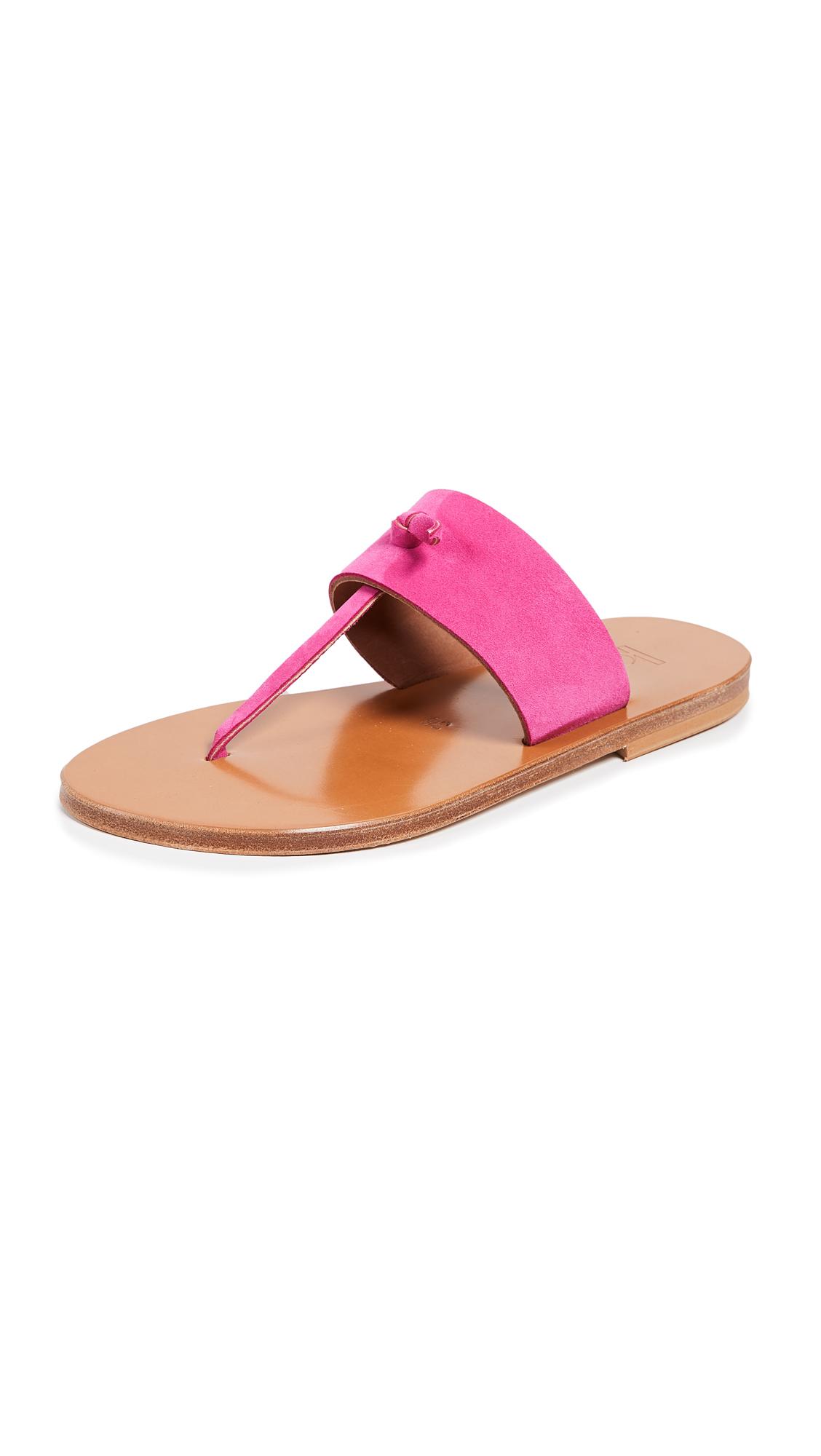 K. Jacques Shambala Thong Sandals - Velours Framboise