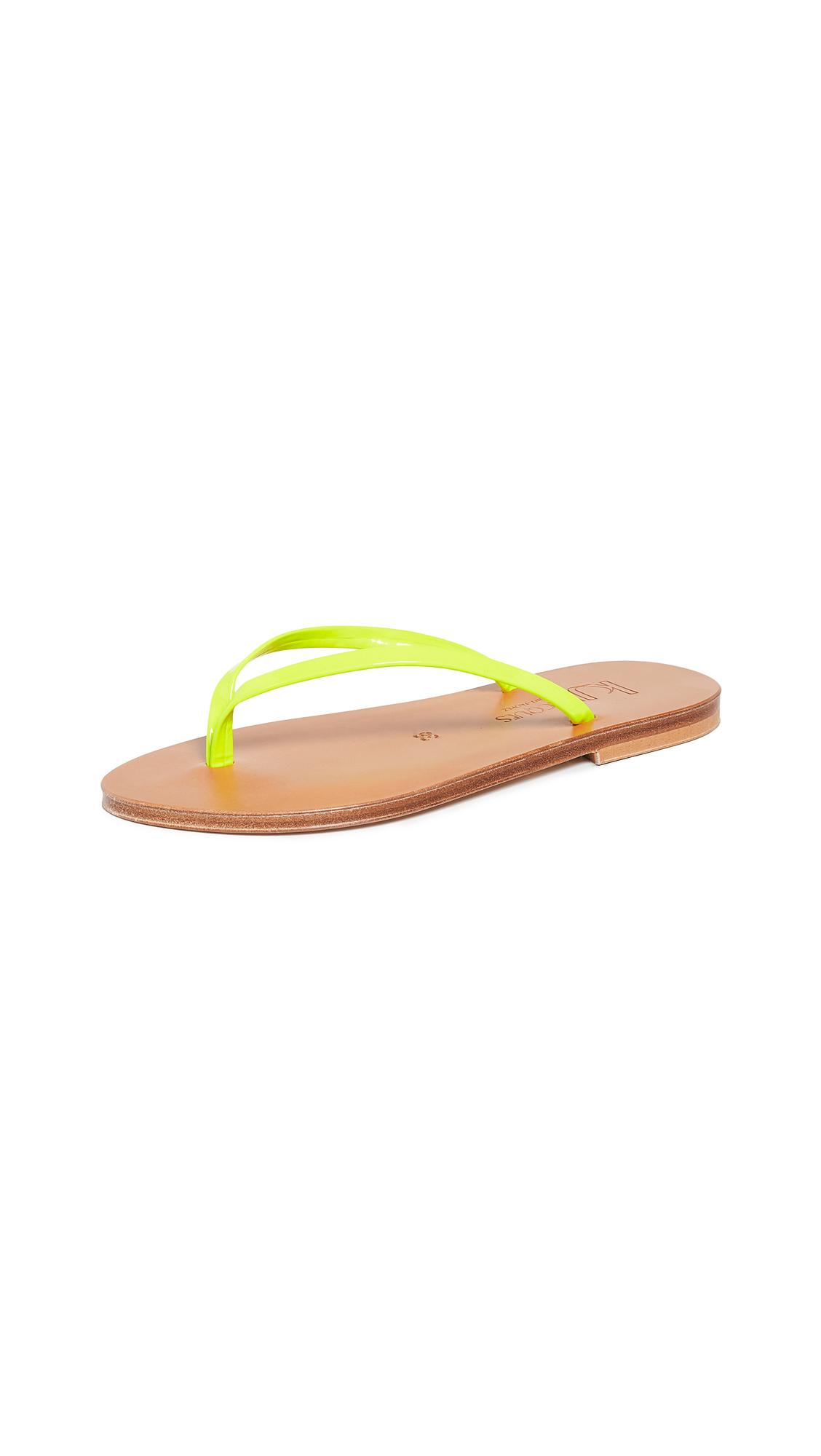 K. Jacques Venise Flip Flops - Fluo Jaune