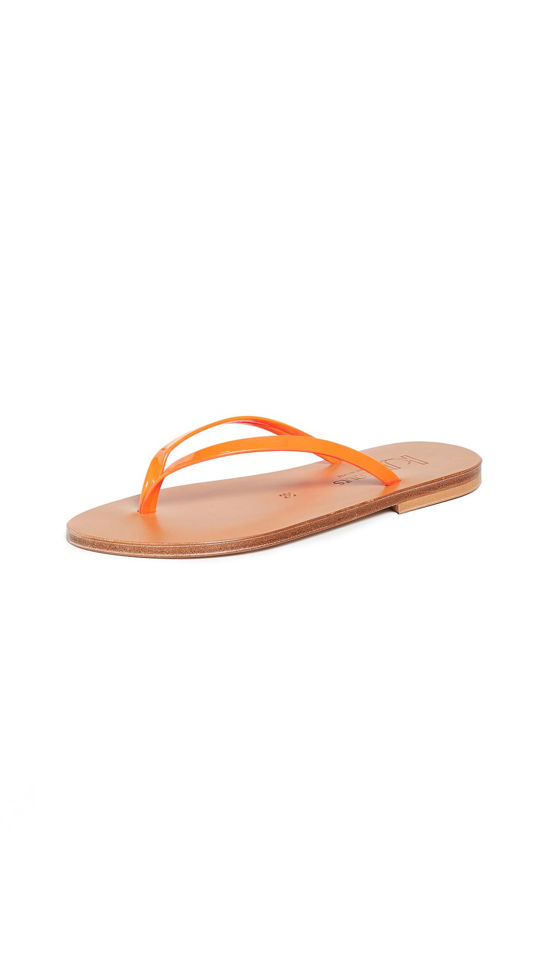 K. Jacques Venise Flip Flops - Fluo Orange