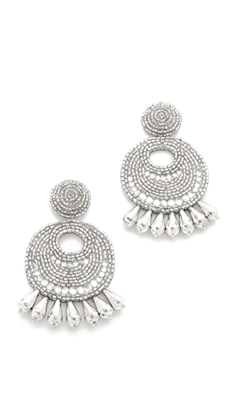 Kenneth Jay Lane Statement Earrings - Silver