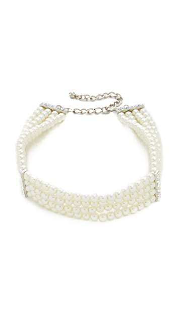 Kenneth Jay Lane 4 Layer Choker Necklace