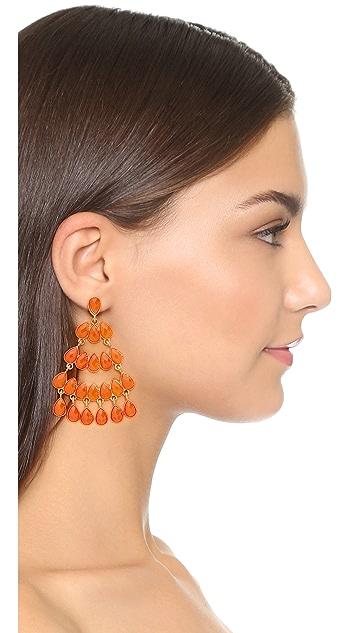 Kenneth Jay Lane Faceted Stone Chandelier Earrings
