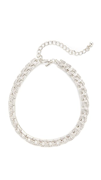 Kenneth Jay Lane Deco Square Link Choker Necklace