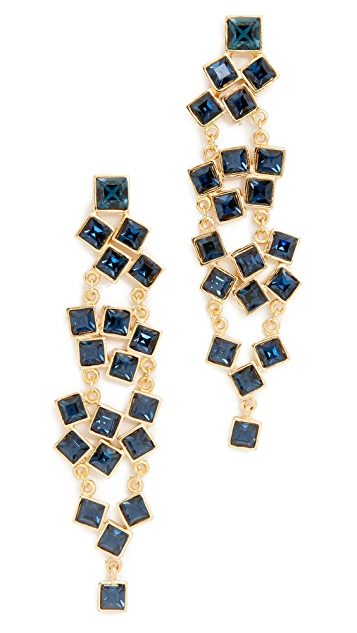 Kenneth Jay Lane Square Cluster Drop Earrings