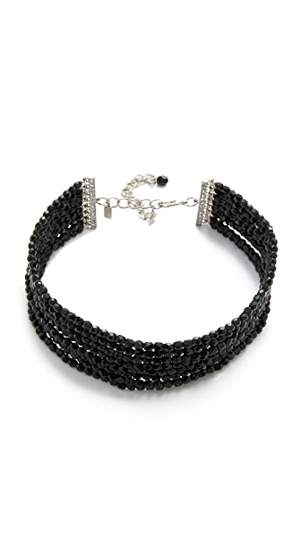 Kenneth Jay Lane 8 Row Bead Choker Necklace