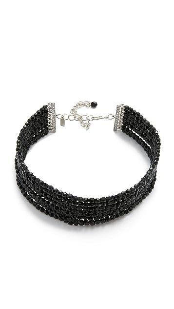 Kenneth Jay Lane 8 Row Bead Choker Necklace