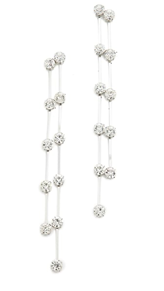 Kenneth Jay Lane 2 Row Drop Earrings