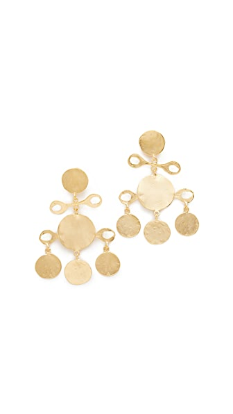 Kenneth Jay Lane Fancy Drop Earrings - Satin Gold