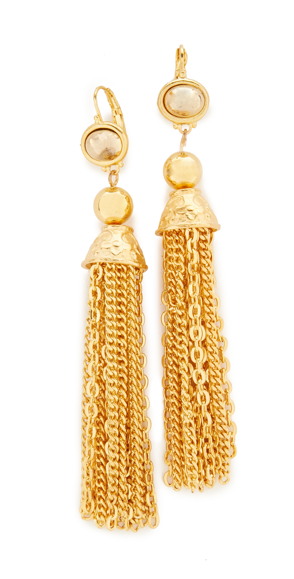 Chain Tassel Earrings Kenneth Jay Lane