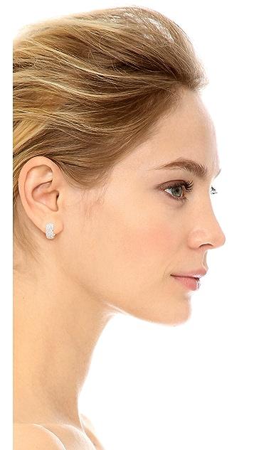 Kenneth Jay Lane Mini Pave Hoop Earrings