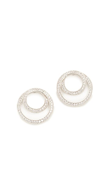 Kenneth Jay Lane Coiled Infinity Pave Earrings