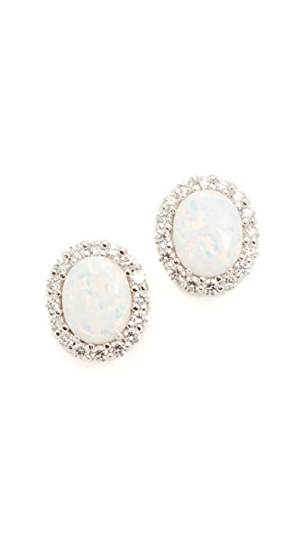 Kenneth Jay Lane Oval Opal Stud Earrings