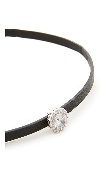 Kenneth Jay Lane Pave Trim Charm Choker Necklace