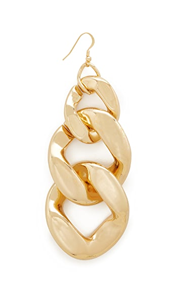Kenneth Jay Lane Single Large Link Fishhook Earring