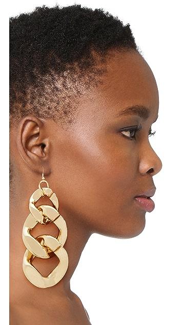 Kenneth Jay Lane Single Large Link Fishhook Earring