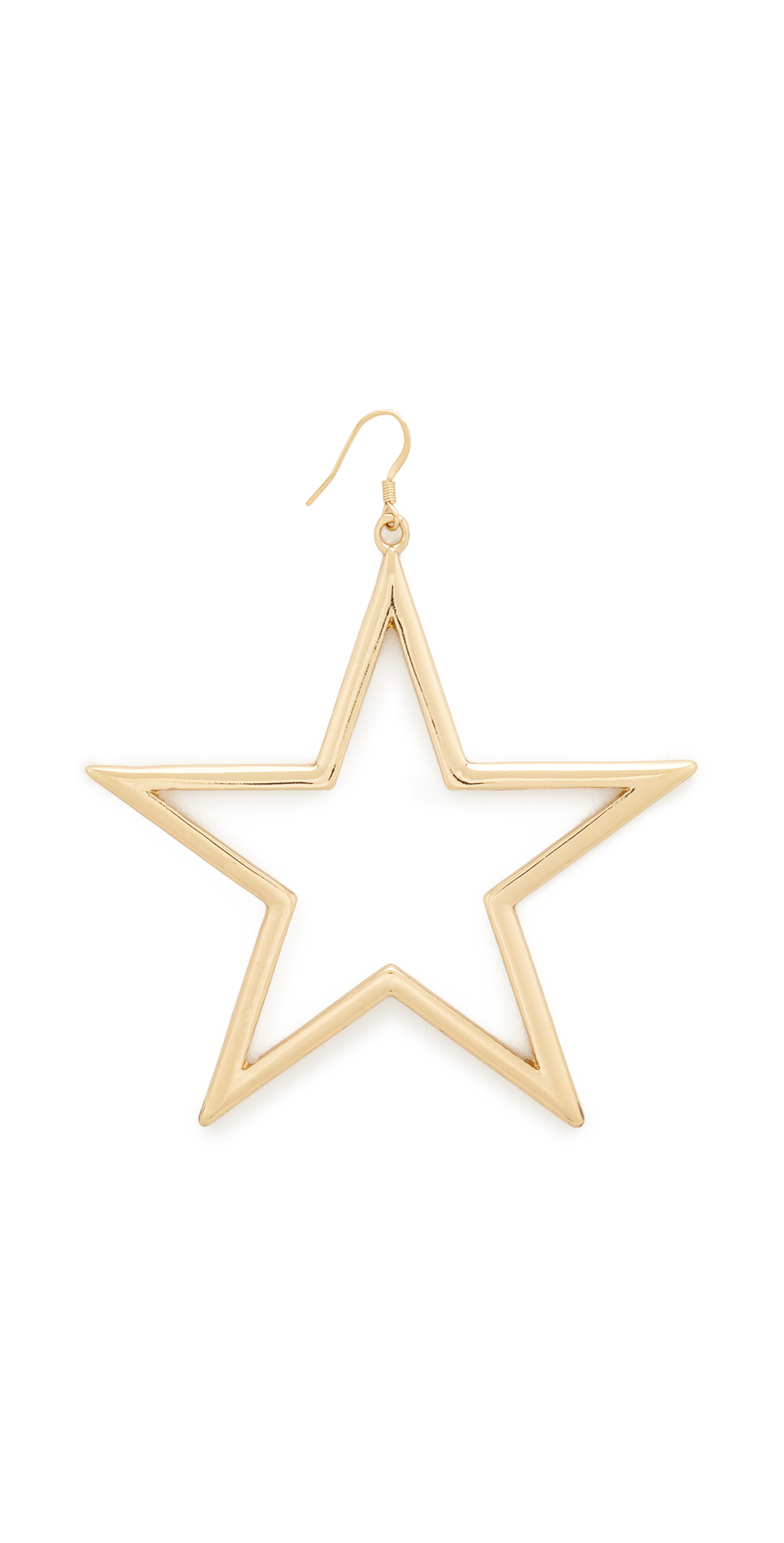 Single Open Star Fishhook Earring Kenneth Jay Lane