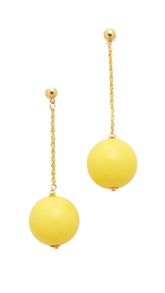 Kenneth Jay Lane Drop Post Earrings - Yellow