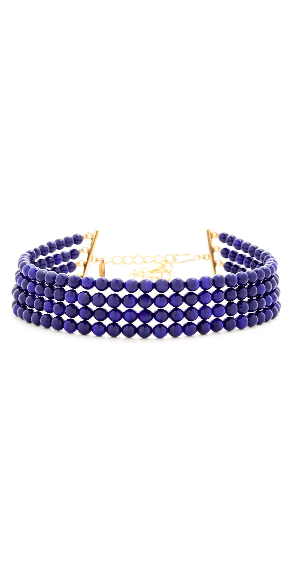 Kenneth Jay Lane Bead Dog Collar Necklace