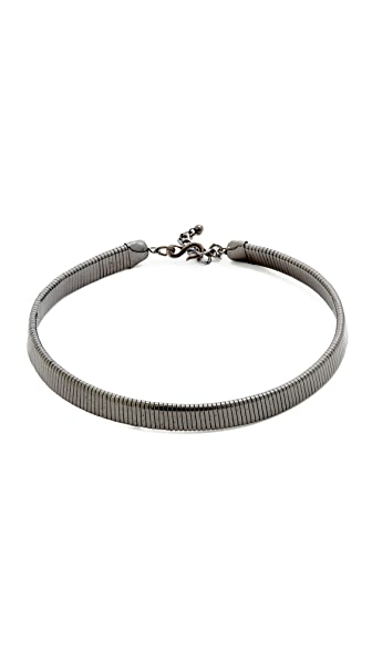 Kenneth Jay Lane Snake Chain Necklace - Gunmetal