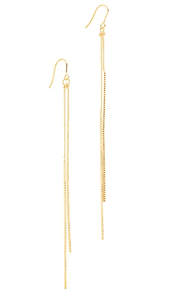 Kenneth Jay Lane Double Bar Drop Earrings - Gold