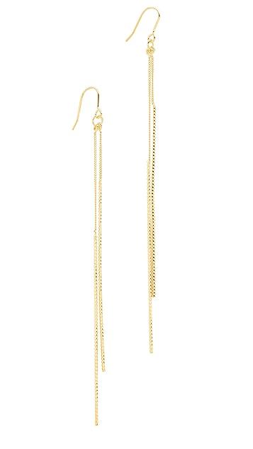 Kenneth Jay Lane Double Bar Drop Earrings