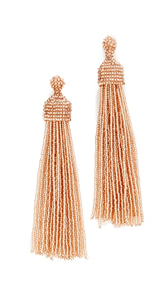 Kenneth Jay Lane Tassel Earrings - Champagne