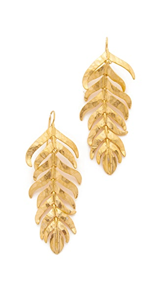 Kenneth Jay Lane Fishhook Earrings - Gold