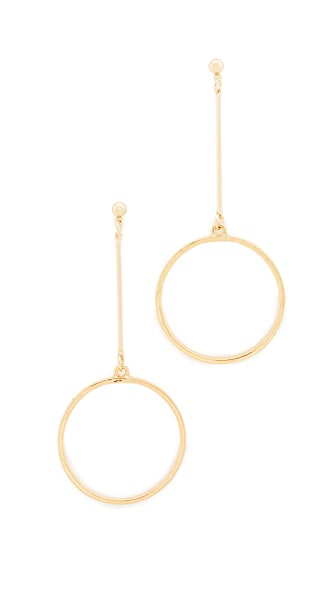 Kenneth Jay Lane Circle Drop Earrings In Gold