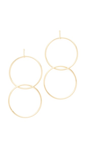 Kenneth Jay Lane Gold Double Interlock Earring In Gold