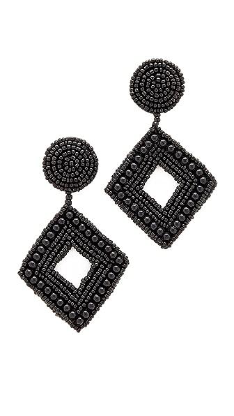 Kenneth Jay Lane Drop Earrings - Black