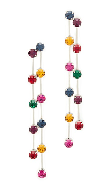 Kenneth Jay Lane Multi Drop Earrings