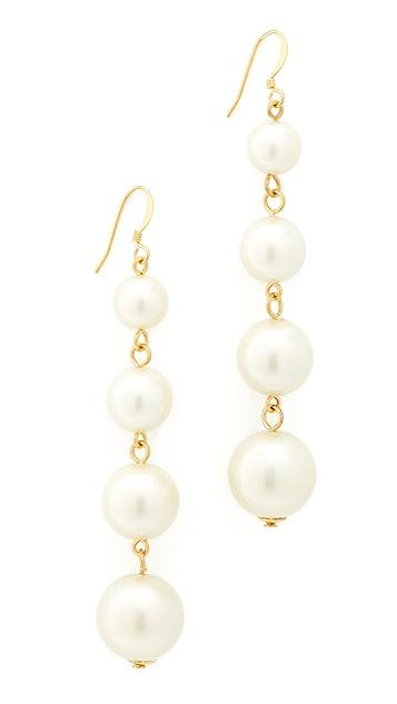 Kenneth Jay Lane Imitation Pearl Drop Earrings