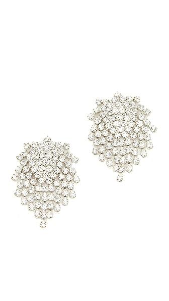 Kenneth Jay Lane Cluster Earrings In Crystal