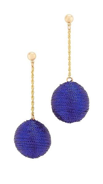 Kenneth Jay Lane Ball Drop Earrings In Blue