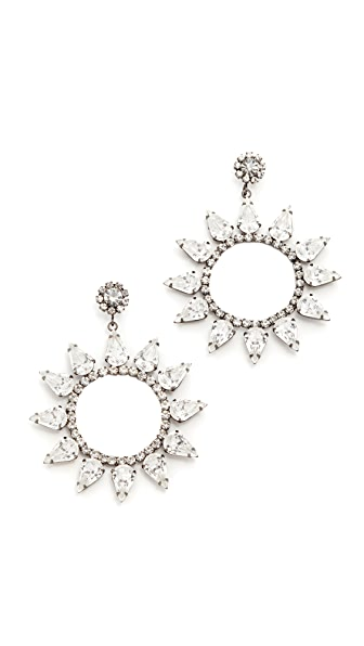 Kenneth Jay Lane Open Circle with Crystal Accents Earring