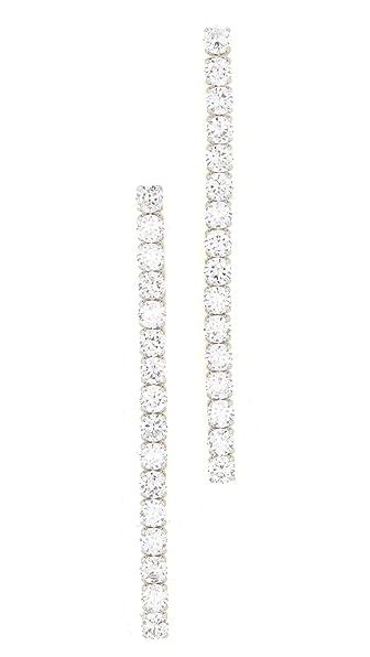 Kenneth Jay Lane Linear Drop Earrings - Silver