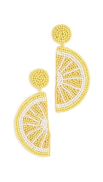 Kenneth Jay Lane Lemon Drop Earrings In Yellow