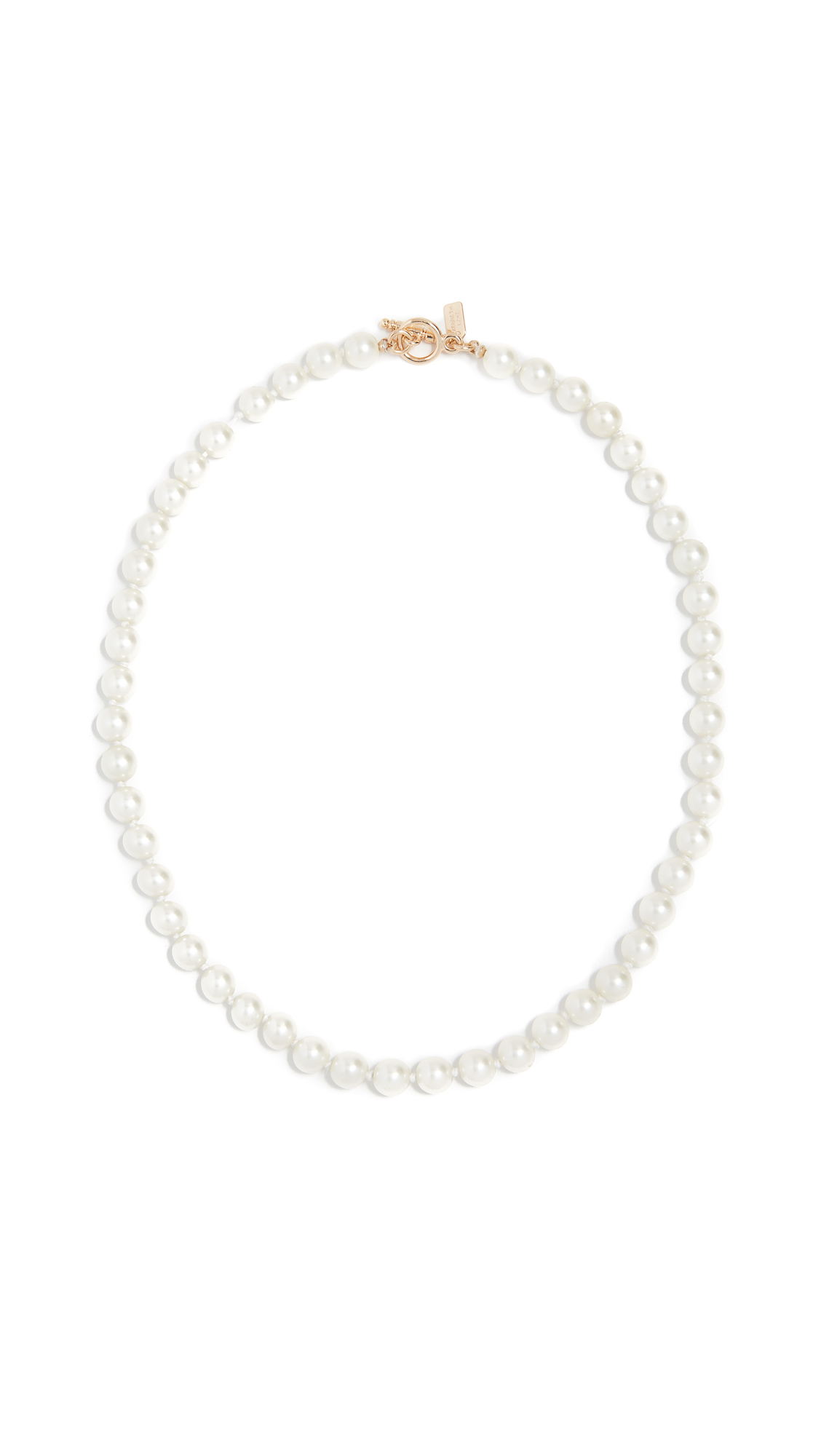 Kenneth Jay Lane Light Cultura Imitation Pearl Necklace In Light Cultura  Pearls