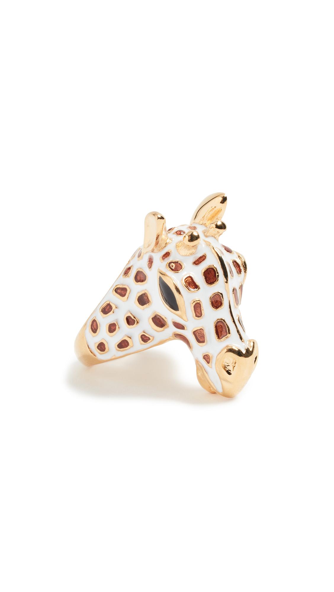 Kenneth Jay Lane Giraffe Head Ring - White/Tan White/tan F8arOGy5M