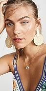 Kenneth Jay Lane Rattan Round Drop Earrings