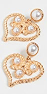 Kenneth Jay Lane Heart Drop Earrings