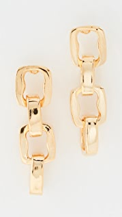 Kenneth Jay Lane Polished Gold 4 Link Earrings
